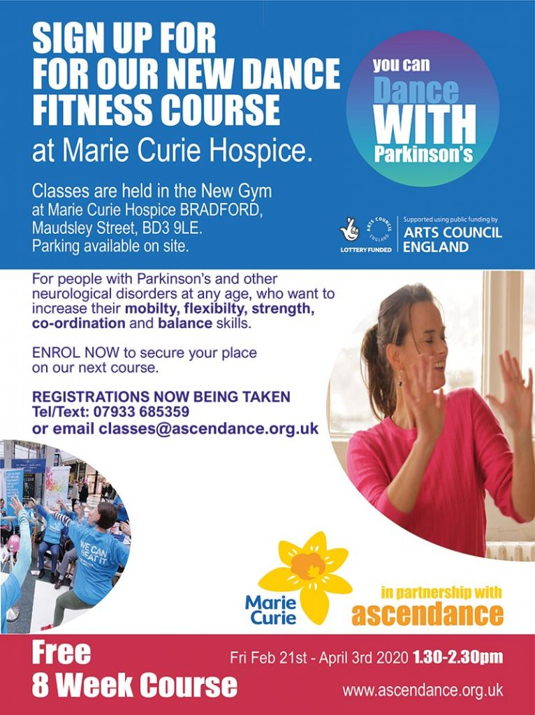 Dance Fitness Course at Marie Curie Hospice